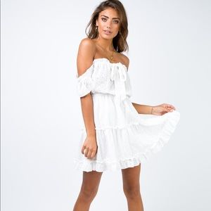 Princess Polly   Maid of Honor White Lace Dress